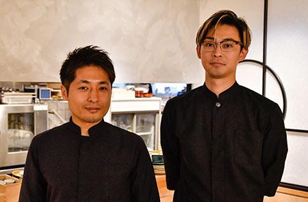 店主の中野健さん(左)と、一緒に店を切り盛りする宮沢慧さん