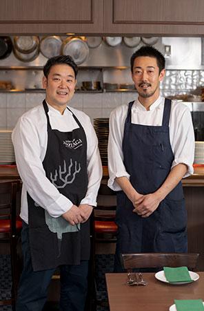 厨房では阿児さんとともにスペイン料理の経験豊富な料理人が腕を振るう。